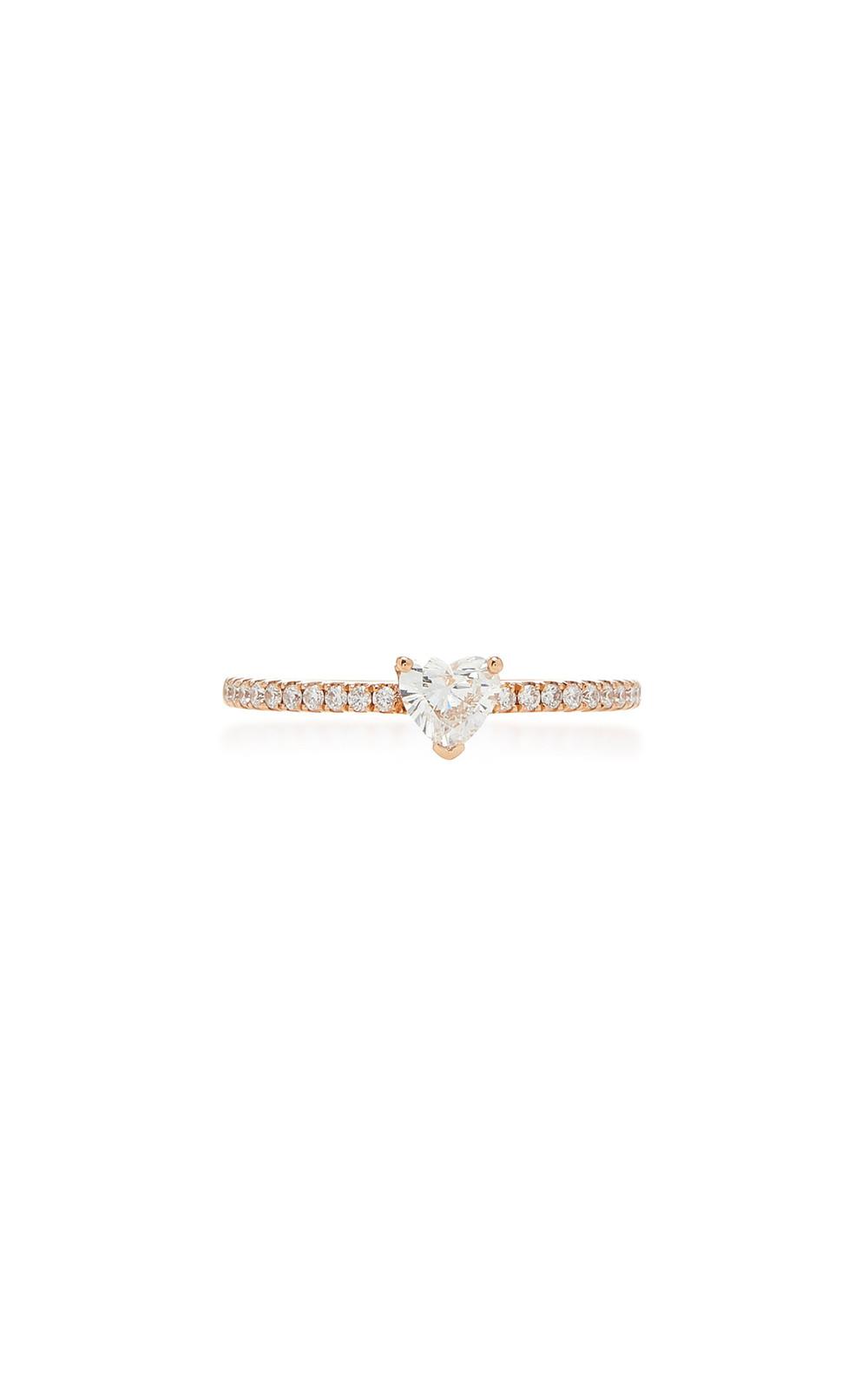 Anita Ko Me/You Heart Diamond 18K Gold Ring in pink