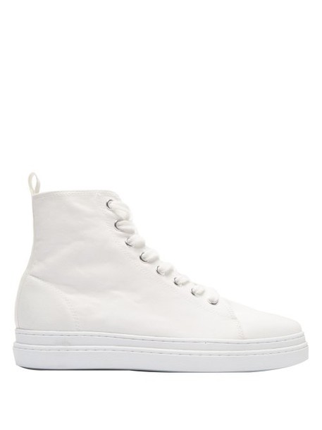 Junya Watanabe - Pointed Toe Lace Up High Top Trainers - Womens - White