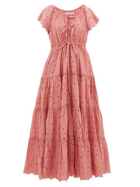 Innika Choo - Broderie-anglaise Cotton Dress - Womens - Pink