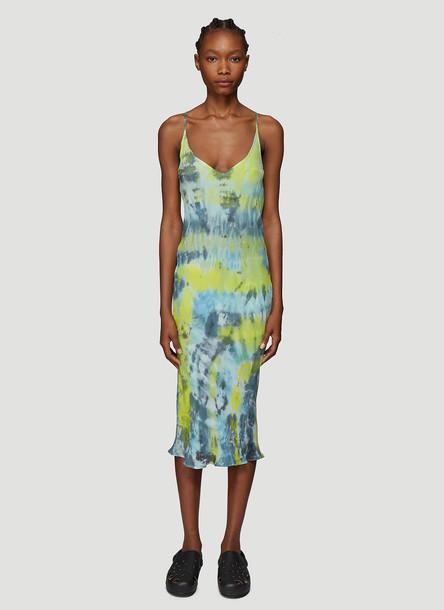 Collina Strada Tie Dye Barbarella Dress in Black size L