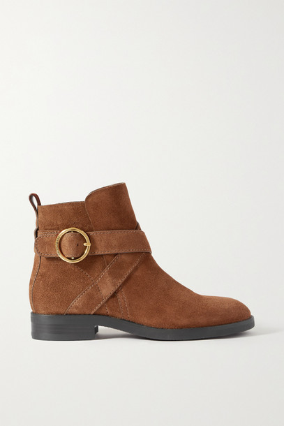 SEE BY CHLOÉ SEE BY CHLOÉ - Lyna Suede Ankle Boots - Brown
