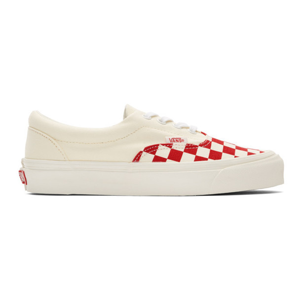 Vans Red & Off-White Checkerboard Era CRFT Sneakers