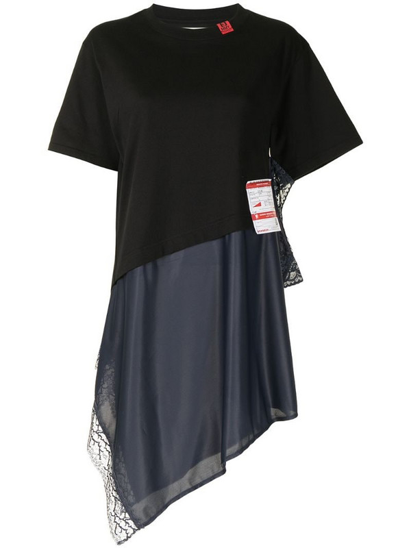 Maison Mihara Yasuhiro logo-tag layered T-shirt in black