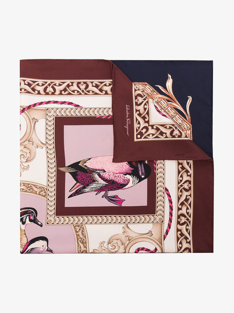 Salvatore Ferragamo Elizabeth silk scarf in brown