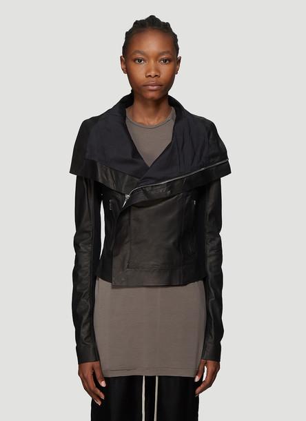 Rick Owens Leather Biker Jacket in Black size IT - 38