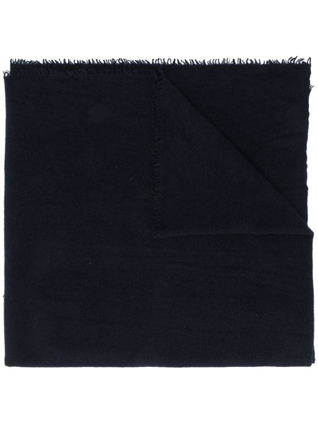 Faliero Sarti frayed-edge cashmere scarf in blue