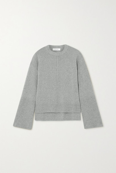 FRAME - Cashmere And Wool-blend Sweater - Gray