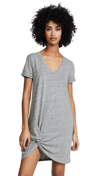Z Supply The Triblend Side Knot Dress in grey
