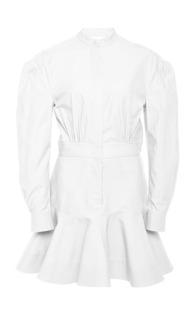 Acler Lewis Cotton Mini Shirt Dress Size: 2 in white