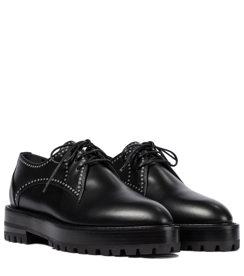 Alaïa Studded leather Derby shoes in black
