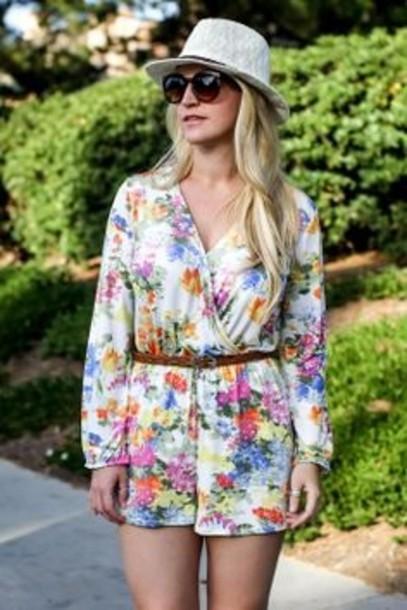 dress floral dress floral romper wrap dress mini dress