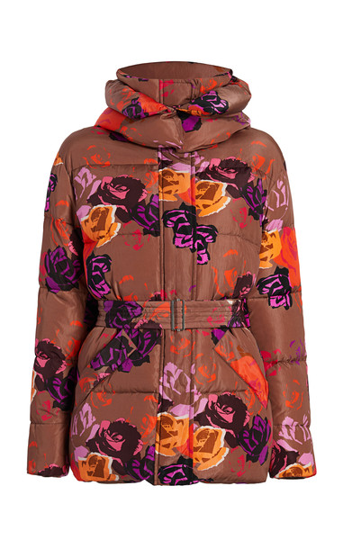 Michelle Waugh The Kate Floral Down Puffer Jacket in multi