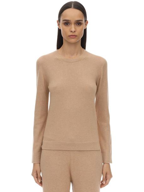 AGNONA Cashmere Knit Sweater in beige