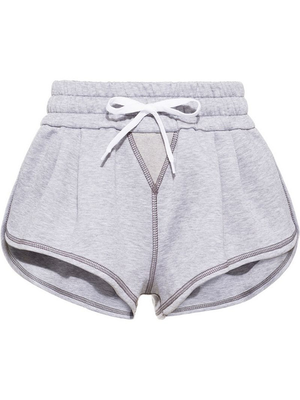 Miu Miu contrast stitch shorts in grey