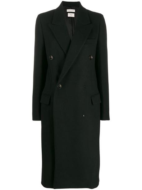 Bottega Veneta double buttoned coat in black