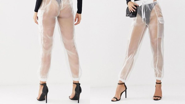 pants white transparent high waisted jeans lace organza