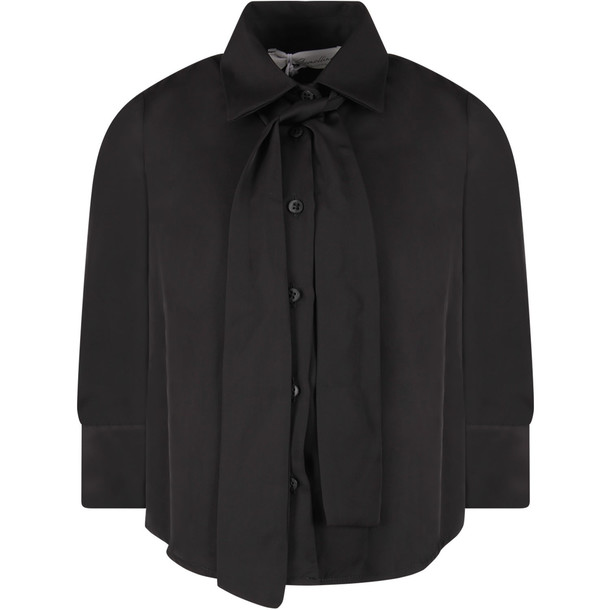 Le Gemelline by Feleppa Black Girl musa Shirt With Bow