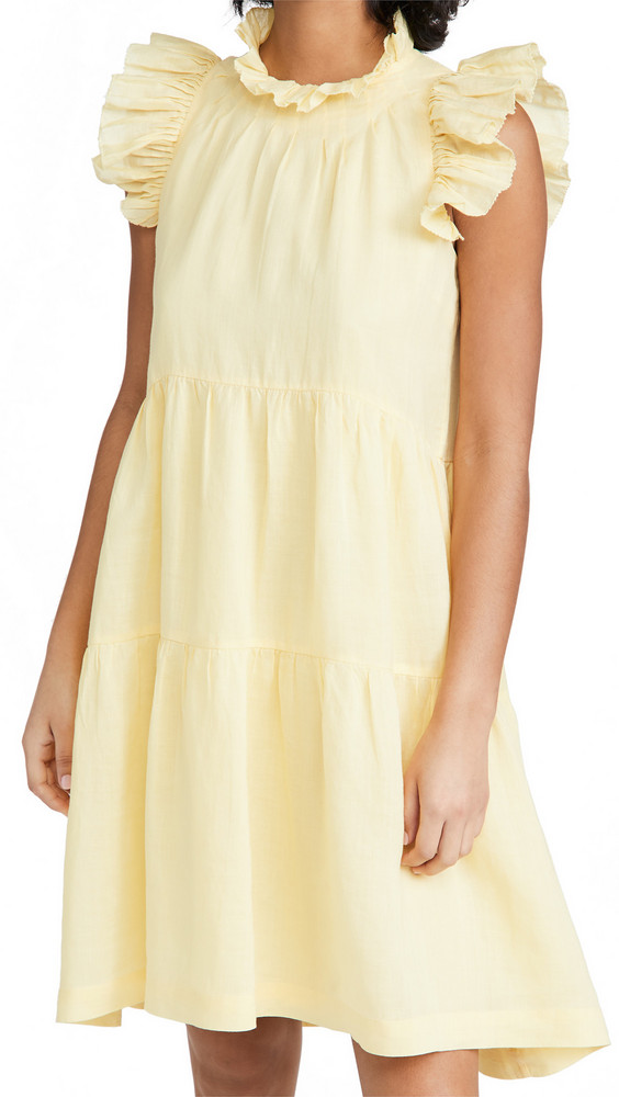 Sea Waverly Dress in yellow