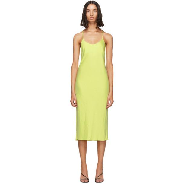 alexanderwang.t Green Wash and Go Open Back Dress
