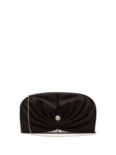 Jimmy Choo - Vivien Satin Clutch - Womens - Black