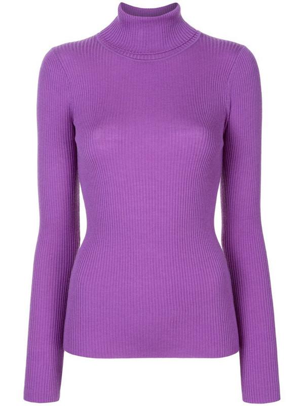 Paule Ka roll neck wool jumper in purple