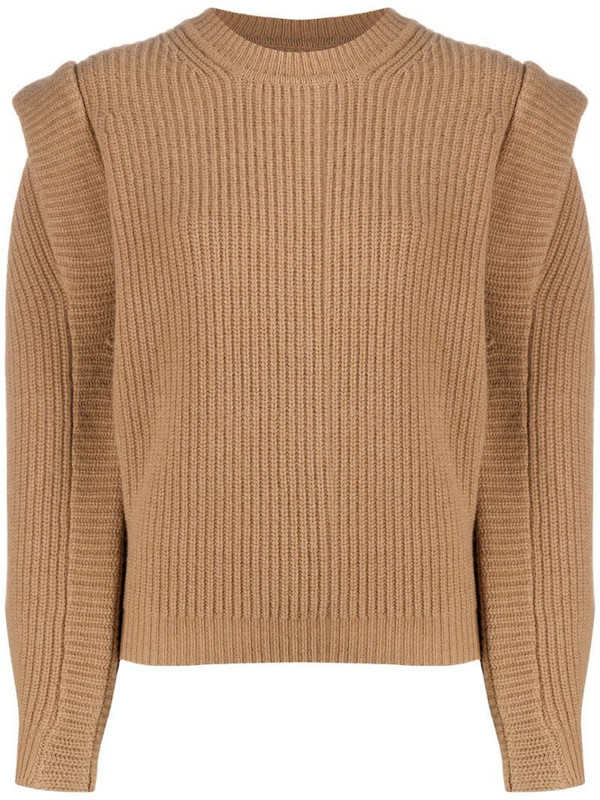 Isabel Marant Bolton crew neck jumper in brown