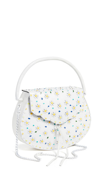 Sam Edelman Georgia Hardshell Clutch in white