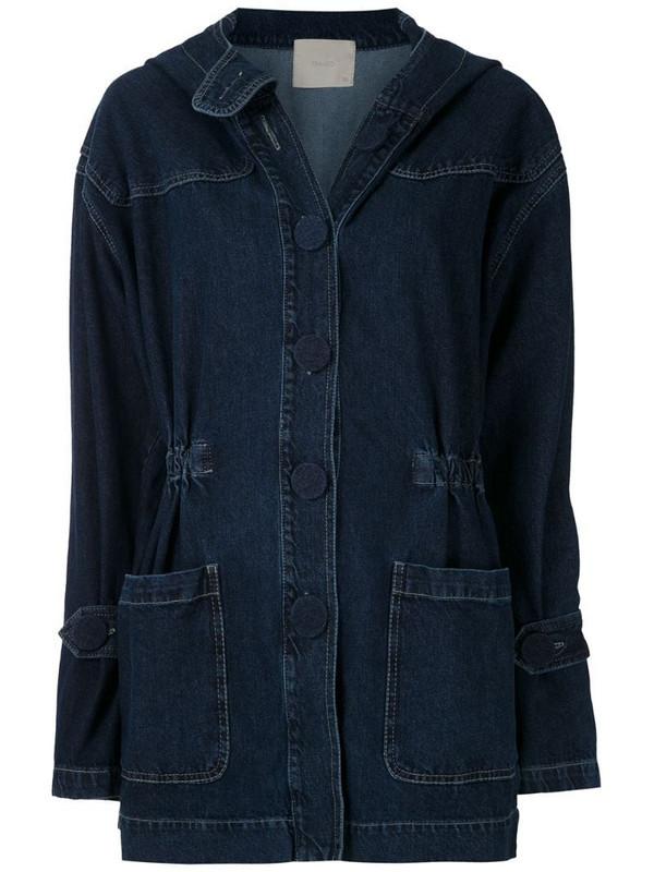 Framed Melbourne jeans parka in blue