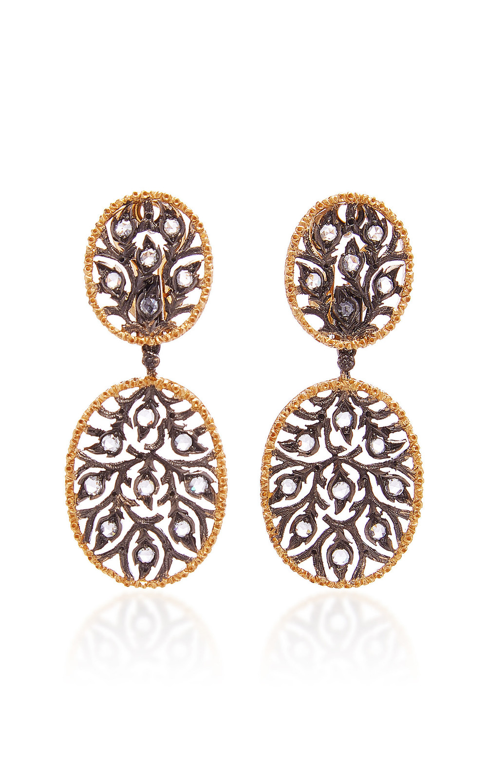 Buccellati Ramage Short Pendant Earrings in gold
