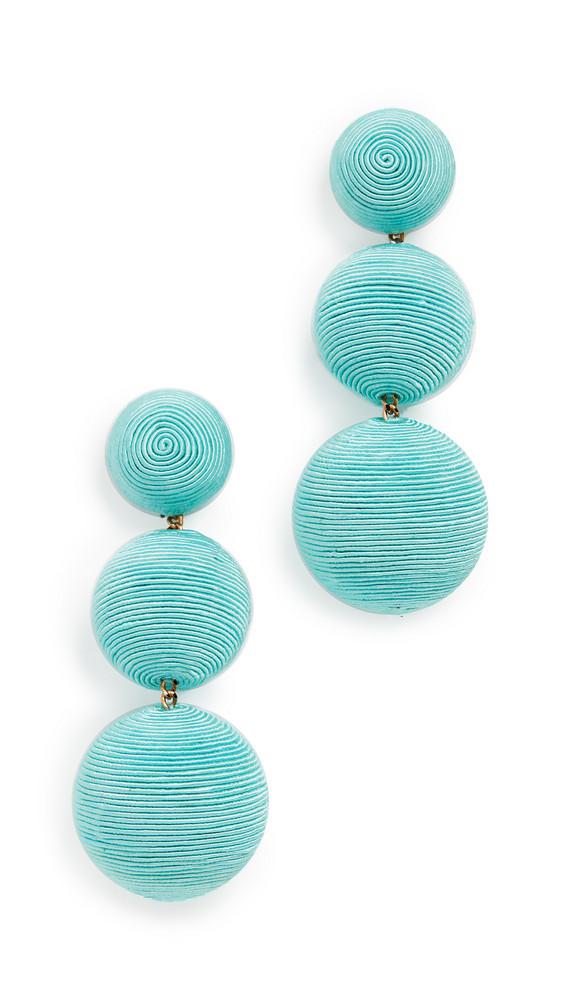 Rebecca De Ravenel Classic 3 Drop Earrings in turquoise