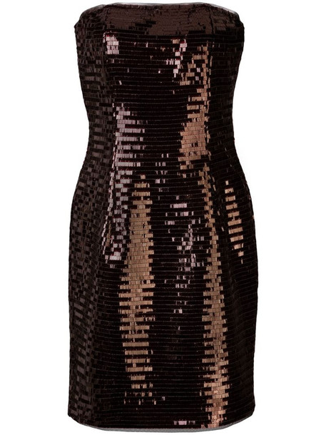 Haney Naomi fitted sequin-embellished dress in red
