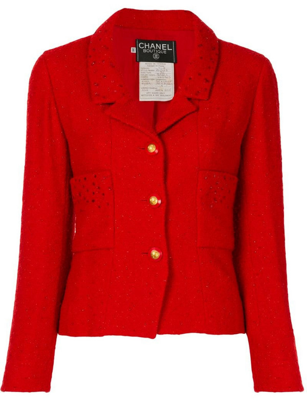 Chanel Pre-Owned 1993 CC buttons single-breasted jacket in red