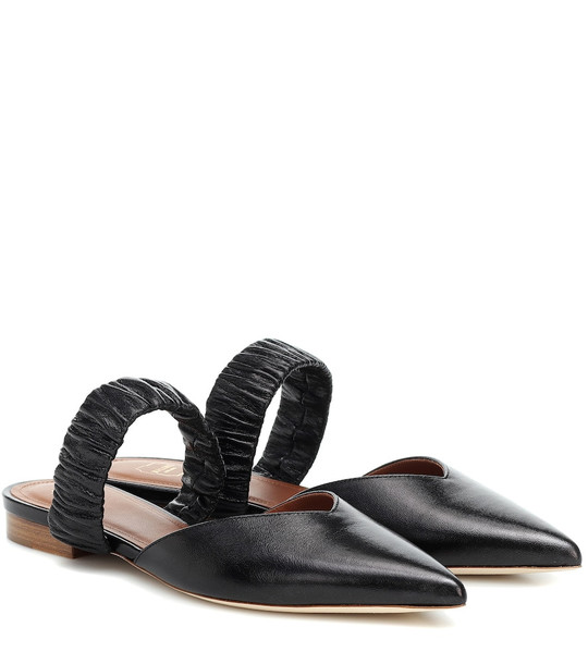 Malone Souliers Matilda leather slippers in black