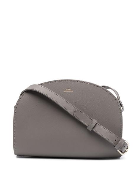 A.P.C. Demi-Lune crossbody bag in grey