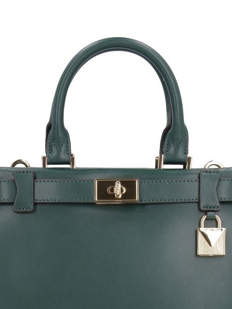 Michael Kors Tatiana Mini Leather Handbag in green