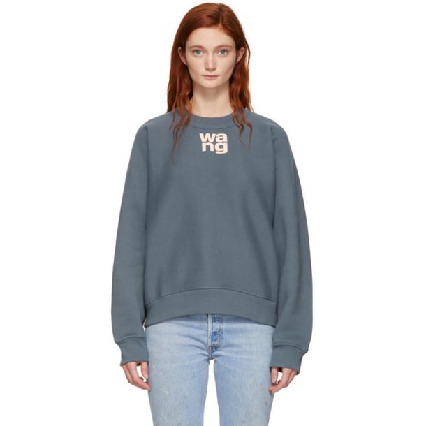 alexanderwang.t Grey Wash & Go Fleece Sweatshirt