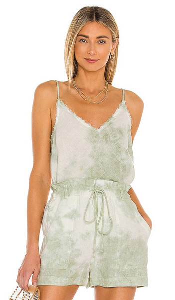 Bella Dahl Frayed Edge Camisole in Green in mint