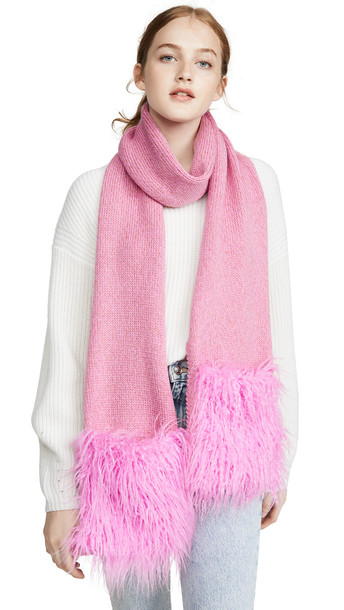 Heurueh Rockz Muffler Scarf in pink