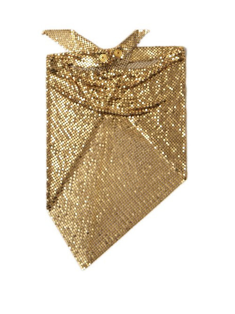 Paco Rabanne - Chainmail Mesh Triangle Scarf - Womens - Gold