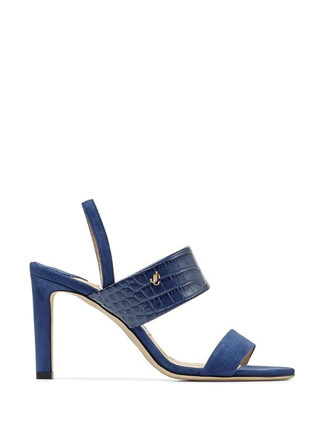 Jimmy Choo Salise sling-back 85mm sandals in blue