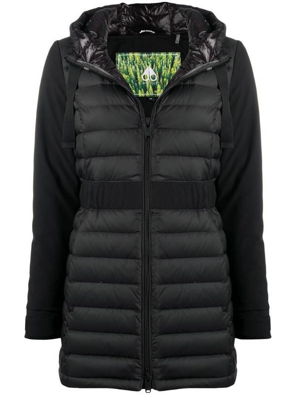 Moose Knuckles Collahie Hooded down jacket in black