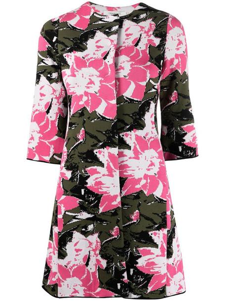 Charlott floral print coat in pink