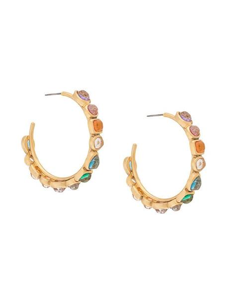 Goossens mini Cabochons earrings in gold