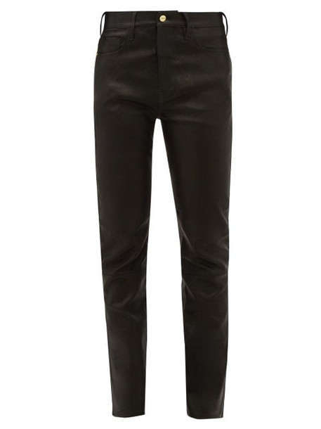 Frame - Le Sylvie Leather Trousers - Womens - Black