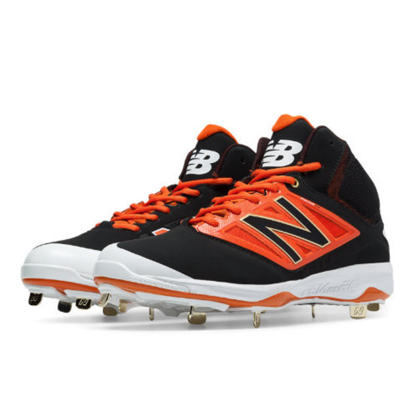 New Balance Mid-Cut 4040v3 Metal Cleat Men's Mid-Cut Cleats Shoes - Black/Orange (M4040BO3)