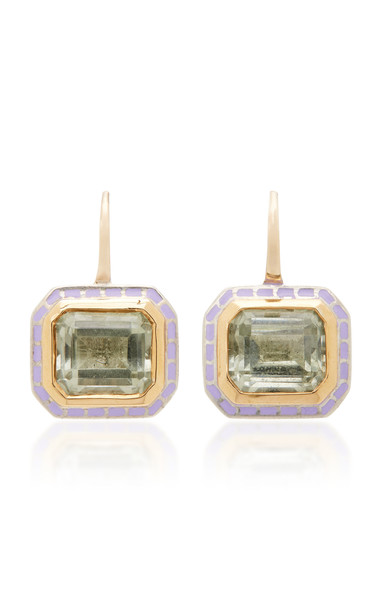 Alice Cicolini 22K Gold, Sterling Silver And Amethyst Earrings