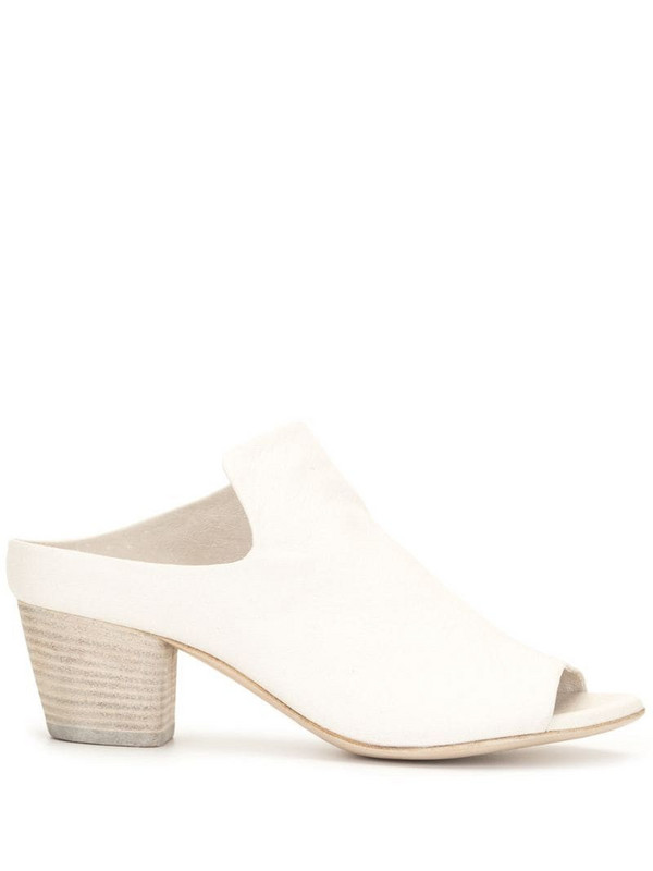 Officine Creative Adele mid-heel mules in white
