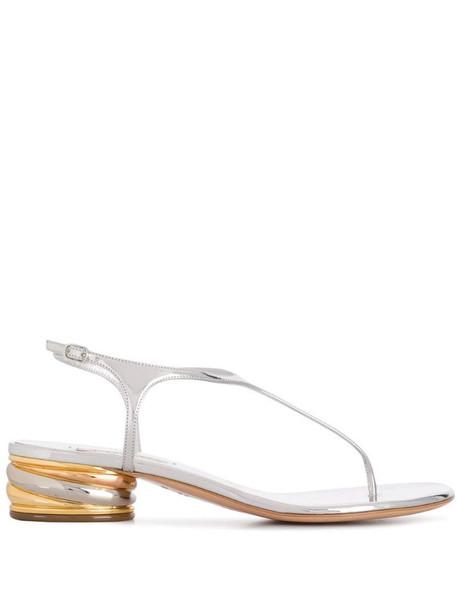 Casadei swirl heel sandals in silver