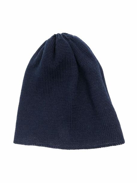 Little Bear chunky-knit virgin wool beanie - Blue