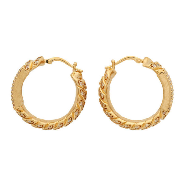 Fendi Gold Medium Hoop Earrings
